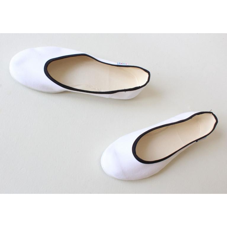 Baleríny Slim - bílá černá